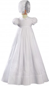 Irish Baptism Gown with Floral Shamrock Embroidery [LTM005]
