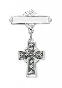 Irish Celtic Cross Baby Pin - Sterling Silver [MVB1025]