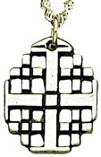 Jerusalem Cross and Four Gospels Pendant [TCG0369]