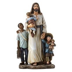 Jesus and the Children of Need 7 Inch High Statue [CBST020]