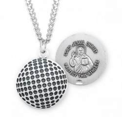Jesus Christ Golf Medal Sterling Silver [HMM1068]