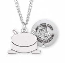 Jesus Christ Hockey Medal Sterling Silver [HMM1056]