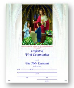 Jesus at the Alter First Communion Certificate [HRC20050]