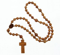 Jujube Wood 5 Decade Rosary 2 Sizes Available [RB9000]