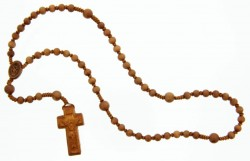 Jujube Wood 5 Decade Rosary - 6mm [RB3910]