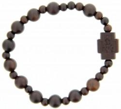 Jujube Wood Bead Rosary Bracelet 8mm Rb9018