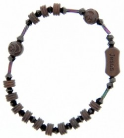 Jujube Wood Brown and Black Rosary Bracelet - 6mm [RB3928]