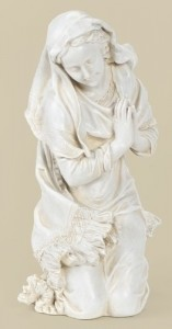 "Kneeling Mary Statue 16"" H for 27"" Scale Nativity Set [RM0016]"