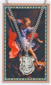 Large St. Michael Prayer Shield Prayer Card [PCMV003LG]