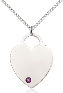 Large Women's Heart Pendant with Birthstone Options [BLST3300]