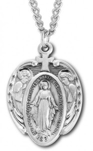 Large Miraculous Pendant with Angels [HM0823]
