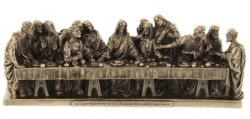 Last Supper Statue in Bronzed Resin - 9.5 inches [GSCH011]