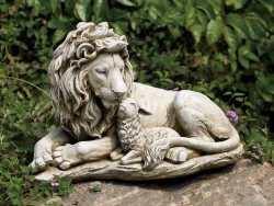 Lion and Lamb Garden Statue - 12.25 [RM0404]