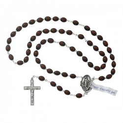Locket Rosary in Brown [MVRB1214]