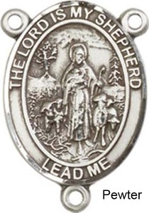 Lord is My Shepherd Rosary Centerpiece Sterling Silver or Pewter [BLCR0284]