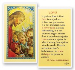 Love Is Patient St. Paul Laminated Prayer Cards 25 Pack [HPR703]