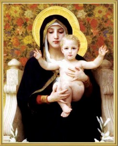 Madonna & Child Gold Framed Print [HFA0217]