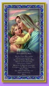 Madonna & Child Italian Prayer Plaque [HPP009]
