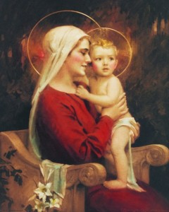 Madonna & Child Print - Sold in 3 per pack [HFA1136]