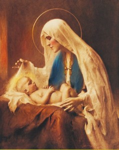 Madonna & Child Print - Sold in 3 per pack [HFA1137]