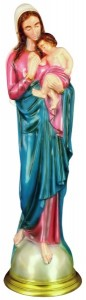 Plastic Madonna and Child Statue - 24 inch [SAP2460]