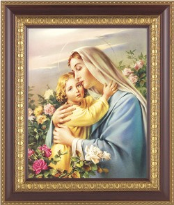 Madonna and Child in the Garden Framed Print [HFP227]