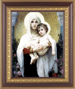 Madonna and Child with Halos Framed Print [HFP231]