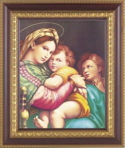 Madonna and Child with Saint Gabriel Framed Print [HFP244]