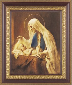 Madonna Adoring the Christ Child Framed Print [HFP269]