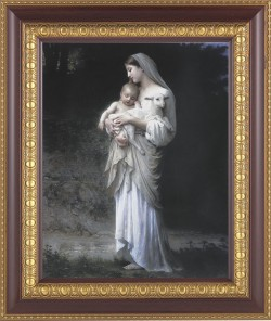 Madonna and Child with Baby Lamb Framed Print [HFP298]