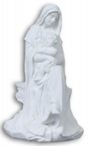 Madonna and Child Statue in White Resin - 6 inches [GSCH024]