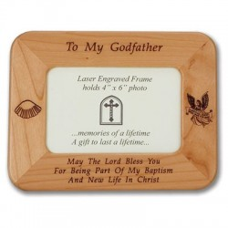 Godfather Photo Frame Maple Wood  [SNCR1075]