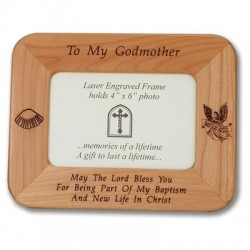 "Maple Wood ""Godmother"" Photo Frame   [SNCR1076]"