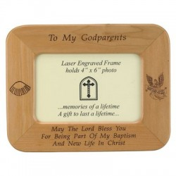 Maple Wood Godparents Photo Frame [SNCR1077]