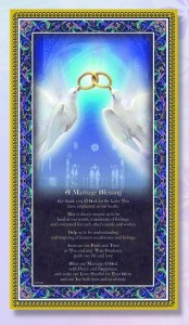 Marriage Blessing Italian Prayer Plaque [HPP024]