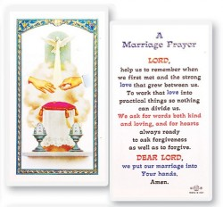 Marriage Prayer Wedding Symbol Laminated Cards 25 Pack Hpr713