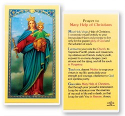 Mary Help of Christians Laminated Prayer Cards 25 Pack [HPR284]