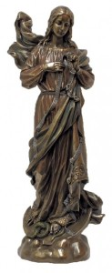 Mary, Undoer of Knots Bronzed Resin Statue - 12 Inches [GSS006]