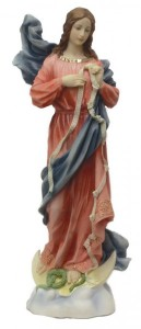 Mary, Undoer of Knots Painted Statue - 12 Inches [GSS005]