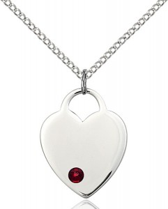 Medium Heart Shaped Pendant with Birthstone Options [BLST3200]