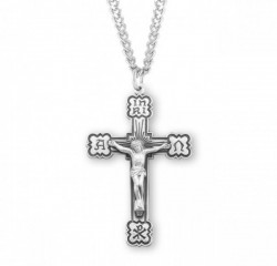 Men's Alpha Omega Chi Rho Crucifix Pendant [HM0738]