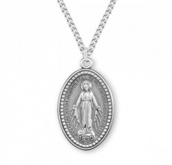Men's Beaded Border Miraculous Medal [HMM3192]