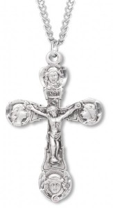 Men's Crucifix Medal with Angel Face Tips [HM0821]