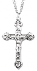 Men's Heart Tip Crucifix Lined Textured Background [HM0817]