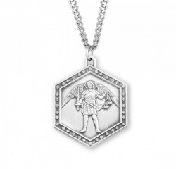 Men's Hexagon Saint Michael the Archangel Medal [HMM3014]