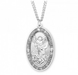 Men's Large Saint Michael Protect Us In Battle Medal [HMM3005]