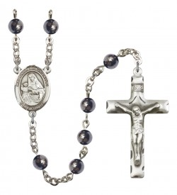 Men's Madonna Del Ghisallo Silver Plated Rosary [RBENM8203]