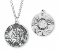 Men's Military Theme St Christopher Necklace [HMM3440]