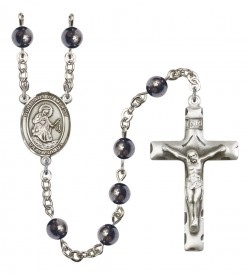 Men's Our Lady of Mercy Silver Plated Rosary [RBENM8289]
