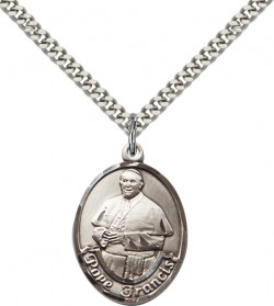 Men's Oval Pope Francis Pendant [BM1004]